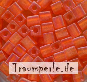 4 mm Würfel Matt Transparent Orange AB 138FR