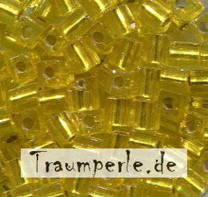 4 mm Würfel Silverlined Yellow 6