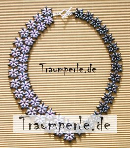 Anleitung Kette FloDuo in Lila incl. Material von Tanja...