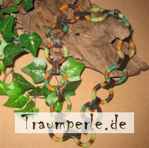Anleitung Ringkette Indian Summer  incl. Material ohne