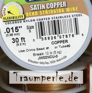 Fädeldraht Copper Satin