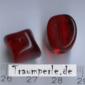14 mm Glasperlen Rot