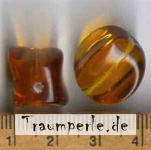 Glasperlen Topaz Transparent