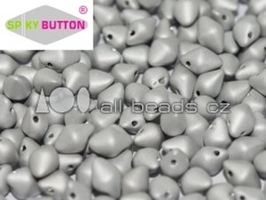 Spiky Button Bead JET FULL LABRADOR MATT 23980/27070