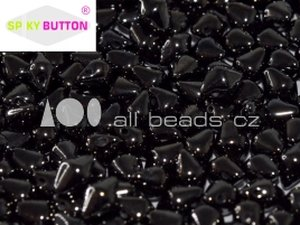 Spiky Button Bead JET HEMATITE 23980/14400