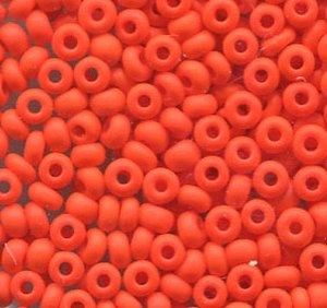 2,6mm Rocailles Opak Orange Matt 93140