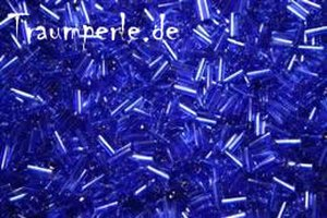 7mm Stiftperlen Transparent Blau