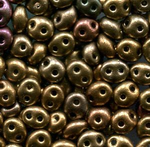 PRECIOSA Twin Beads Bronce AB Metallic 01620